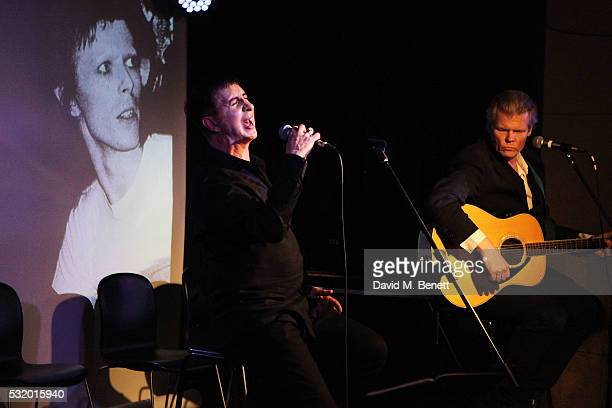 Marc Almond and Neal Whitmore perform at 'Lindsay Kemp My Life Work With David Bowie In Conversation With Marc Almond' at The Ace Hotel on May 17...