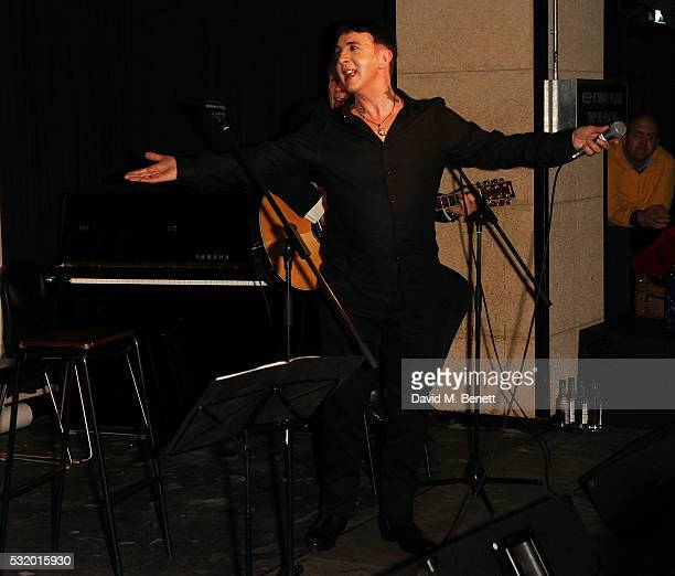 Marc Almond attends 'Lindsay Kemp My Life Work With David Bowie In Conversation With Marc Almond' at The Ace Hotel on May 17 2016 in London England
