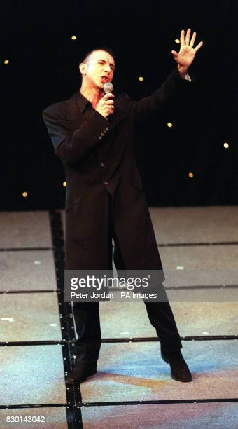 Marc Almond from 80's group Soft Cell performs at the Rudolph Valentino Awards at the Grosvenor House Hotel London The awards commemorate the...