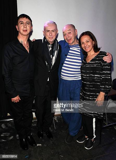 Marc Almond Holly Johnson Lindsay Kemp and Arlene Phillips attend 'Lindsay Kemp My Life Work With David Bowie In Conversation With Marc Almond' at...