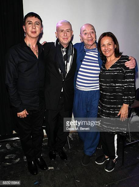 Marc Almond, Holly Johnson, Lindsay Kemp and Arlene Phillips attend 'Lindsay Kemp: My Life & Work With David Bowie - In Conversation With Marc...