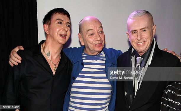Marc Almond Lindsay Kemp and Holly Johnson attend 'Lindsay Kemp My Life Work With David Bowie In Conversation With Marc Almond' at The Ace Hotel on...