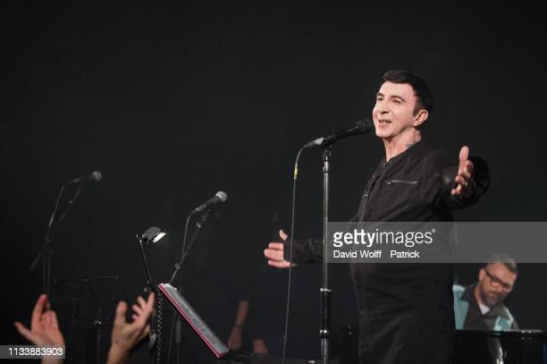 Marc Almond performs at Le Trianon on March 30, 2019 in Paris, France.