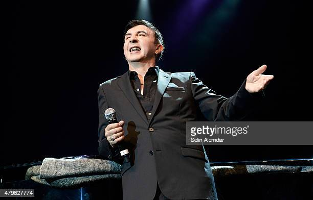 Marc Almond performs on stage at the Istanbul Jazz Festival at Cemil Topuzlu Open Air Theatre on July 7, 2015 in Istanbul, Turkey.