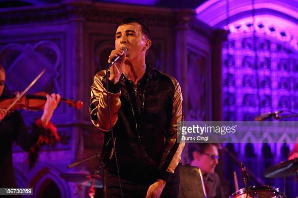 Marc Almond performs on stage at the Union Chapel on November 3 2013 in London United Kingdom