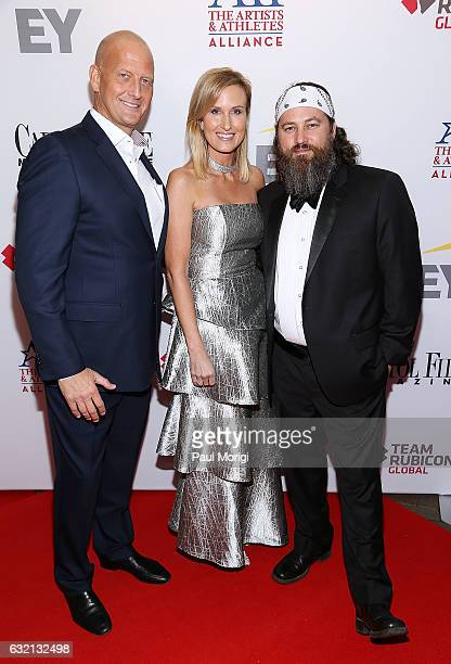Marc Andersen of EY Korie Robertson and Willie Robertson of the reality series Duck Dynasty attend the Capitol File 58th Presidential Inauguration...