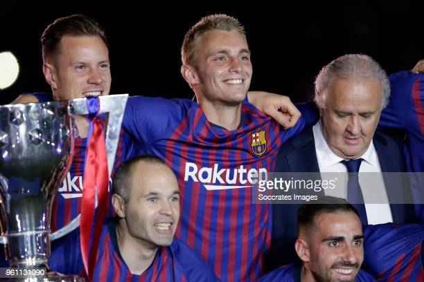 Marc Andre ter Stegen of FC Barcelona Jasper Cillessen of FC Barcelona during the La Liga Santander match between FC Barcelona v Real Sociedad at the...