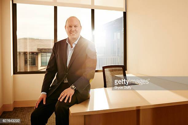 Marc Andreesen of the venture capital firm Andreesen Horowitz is photographed for Fortune Magazine on January 24 2013 in the offices of Andreesen...