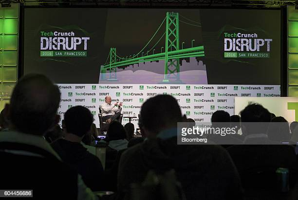 Marc Andreessen cofounder and general partner of Andreessen Horowitz speaks during the TechCrunch Disrupt San Francisco 2016 Summit in San Francisco...