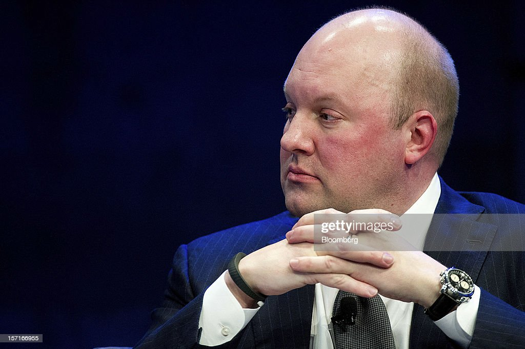 Marc Andreessen, co-founder and partner at Andreessen Horowitz, listens during the Minds + Machines 2012: Unleashing the Industrial Internet conference in San Francisco, California, U.S., on Thursday, Nov. 29, 2012. Thought leaders from across business, technology and academia will gather at the Minds + Machines 2012 conference to discuss the power of the Industrial Internet and why it matters. Photographer: David Paul Morris/Bloomberg via Getty Images