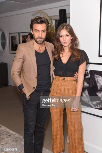 Marc Ange and Hanane El Moutii attend Oliver Peoples x Tasya van Ree Celebrates Who is Oliver Exhibition at LECLAIREUR on February 13 2019 in Los...