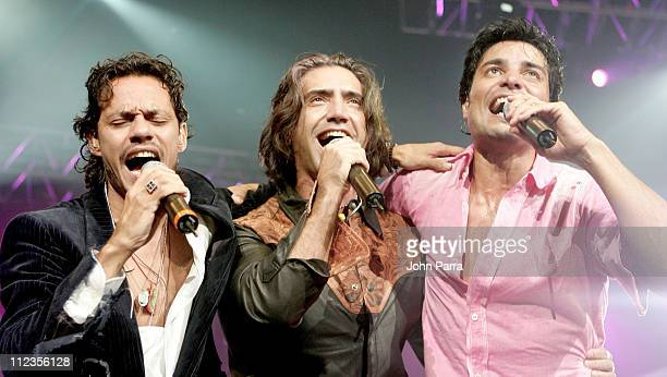 Marc Anthony Alejandro Fernandez and Chayanne during Marc Anthony Chayanne and Alejandro Fernandez Concert September 18 2005 at American Airlines...