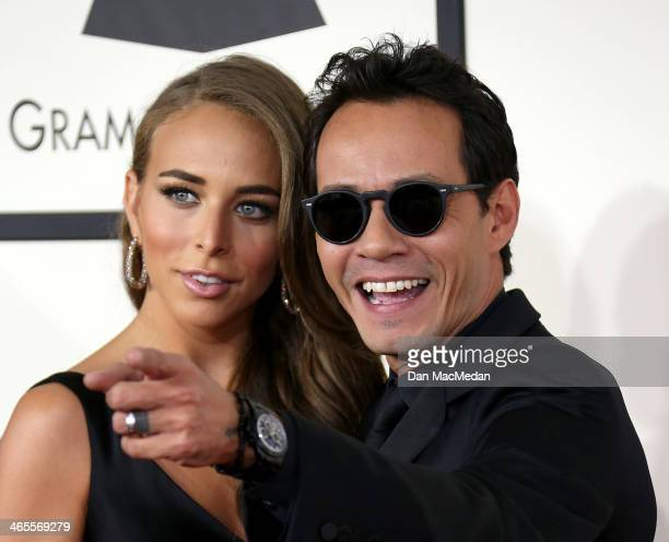 Marc Anthony and Chloe Green arrive at the 56th Annual GRAMMY Awards at Staples Center on January 26 2014 in Los Angeles California