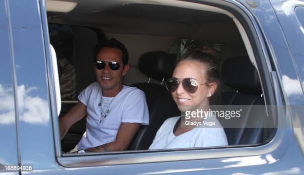 Marc Anthony and Chloe Green arrives to Puerto Rico on April 6 2013 in San Juan Puerto Rico