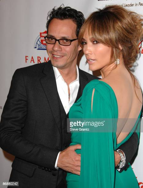 """Marc Anthony and Jennifer Lopez arrives at the 3rd Annual """"Noche de Ninos"""" Gala at The Beverly Hilton Hotel on May 9, 2009 in Beverly Hills,..."""