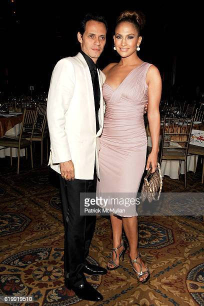 Marc Anthony and Jennifer Lopez attend The Fashion Group International 'NIGHT OF STARS' 2008 Gala The Alchemists at Cipriani Wall Street on October...