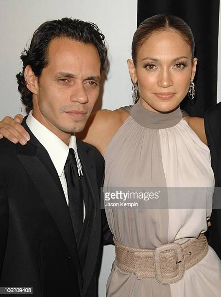 Marc Anthony and Jennifer Lopez during 20th Annual Childrens Fund Gala Arrivals May 30 2007 at The Hilton Hotel in New York City New York United...