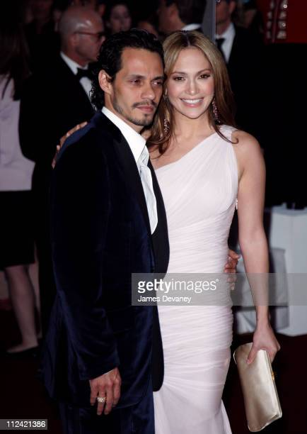 Marc Anthony and Jennifer Lopez during AngloMania Costume Institute Gala at The Metropolitan Museum of Art Arrivals Celebrating AngloMania Tradition...