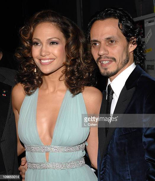 Marc Anthony and Jennifer Lopez during Singers and Songs Celebrate Tony Bennett's 80th to Benefit Paul Newman's Hole in the Wall Camps - Backstage...