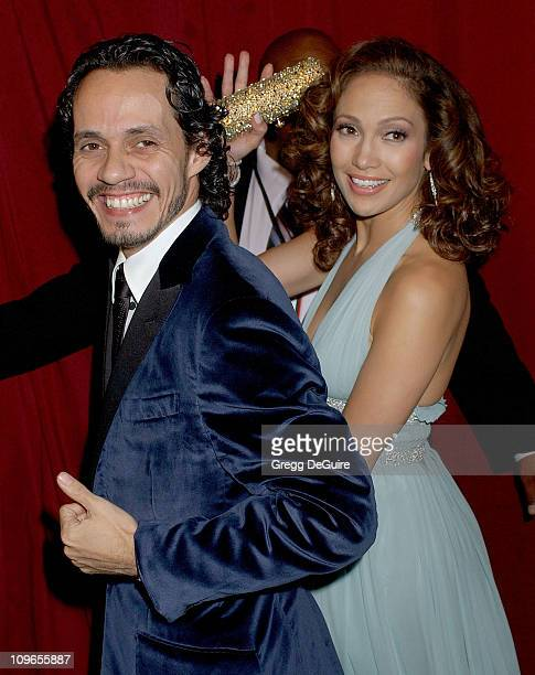 Marc Anthony and Jennifer Lopez during Singers and Songs Celebrate Tony Bennett's 80th to Benefit Paul Newman's Hole in the Wall Camps Arrivals at...