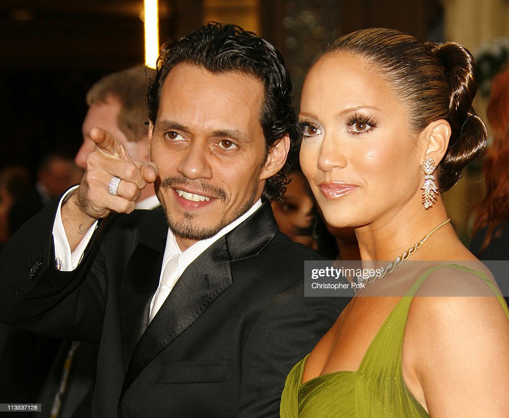 Marc Anthony and Jennifer Lopez during The 78th Annual Academy Awards – Arrivals at Kodak Theatre in Hollywood, California, United States.