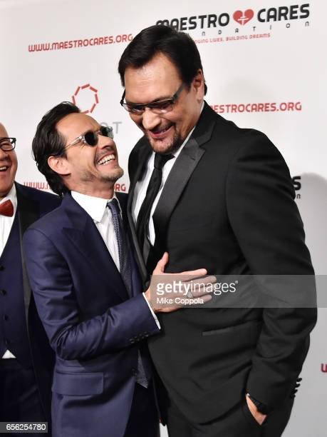 Marc Anthony and Jimmy Smits attend the Maestro Cares Foundation's fourth annual 'Changing Lives/Building Dreams' gala at Cipriani Wall Street on...