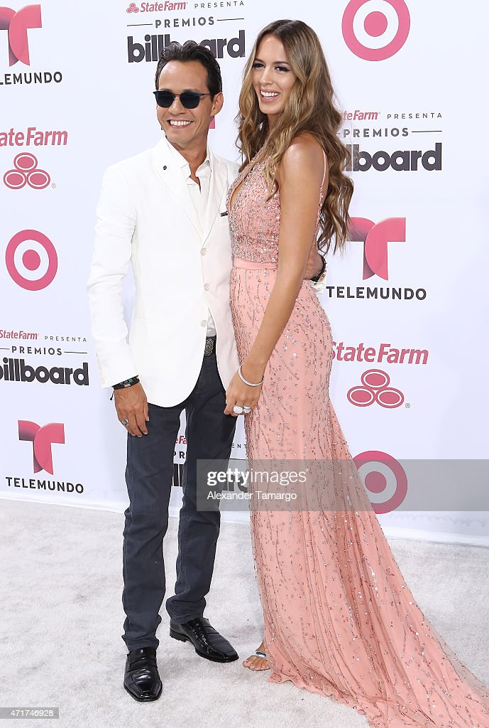 Marc Anthony and Shannon de Lima arrive at 2015 Billboard Latin Music Awards presented by State Farm on Telemundo at Bank United Center on April 30, 2015 in Miami, Florida.