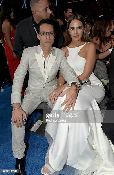 Marc Anthony and Shannon De Lima attends the 2015 Premios Lo Nuestros Awards at American Airlines Arena on February 19 2015 in Miami Florida