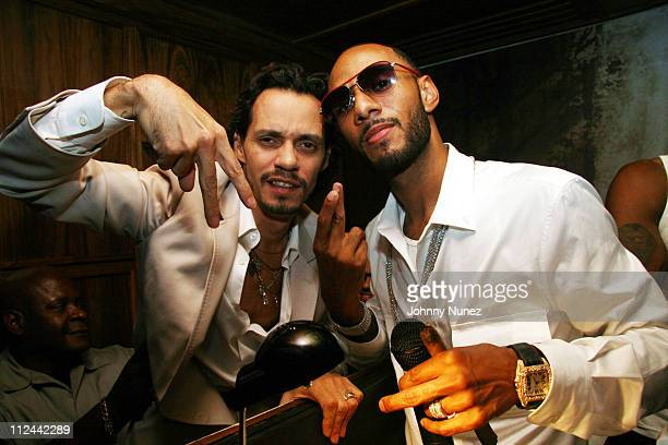 Marc Anthony and Swizz Beatz during T3 Agency Presents Swizz Beatz Birthday August 30 2006 at Manor in New York City New York United States