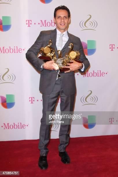 Marc Anthony attends Premio Lo Nuestro a la Musica Latina 2014 at American Airlines Arena on February 20 2014 in Miami Florida