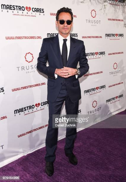 Marc Anthony attends the 2018 Maestro Cares Gala at Cipriani Wall Street on March 8 2018 in New York City