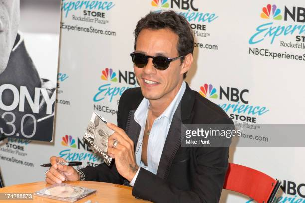 Marc Anthony attends the Marc Anthony Fan Meet And Greet at the NBC Experience Store on July 23 2013 in New York City