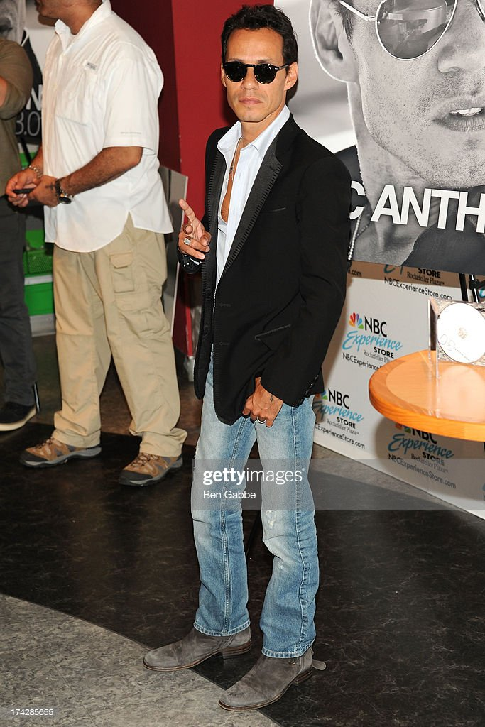 Marc anthony attends the meet and greet at the nbc experience store marc anthony fan meet and greet news photo m4hsunfo