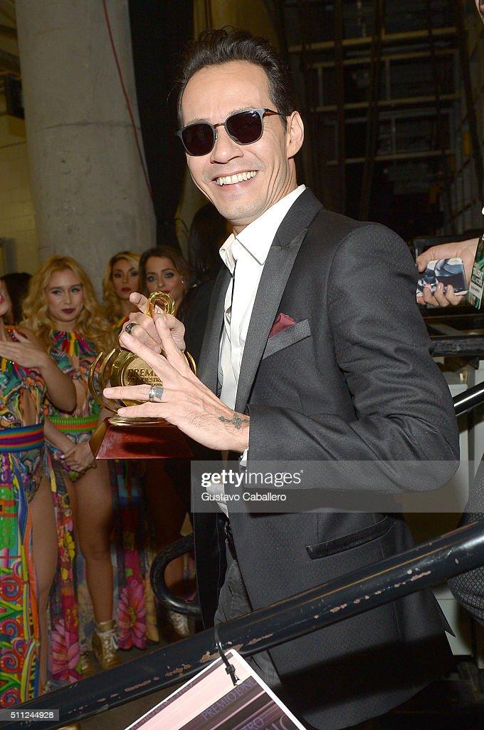 Marc Anthony attends Univision's 28th Edition of Premio Lo Nuestro A La Musica Latina on February 18, 2016 in Miami, Florida.