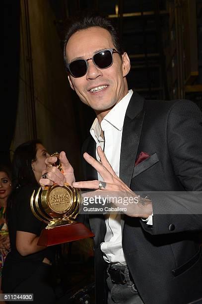 Marc Anthony attends Univision's 28th Edition of Premio Lo Nuestro A La Musica Latina on February 18 2016 in Miami Florida