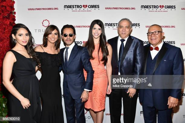 Marc Anthony Dr Ramon Tallaj and Henry Cardenas pose with guests at the Maestro Cares Foundation's fourth annual 'Changing Lives/Building Dreams'...