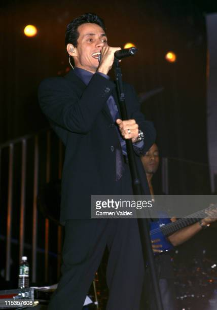 Marc Anthony during Marc Anthony In Concert at Madison Square Garden in New York City New York United States