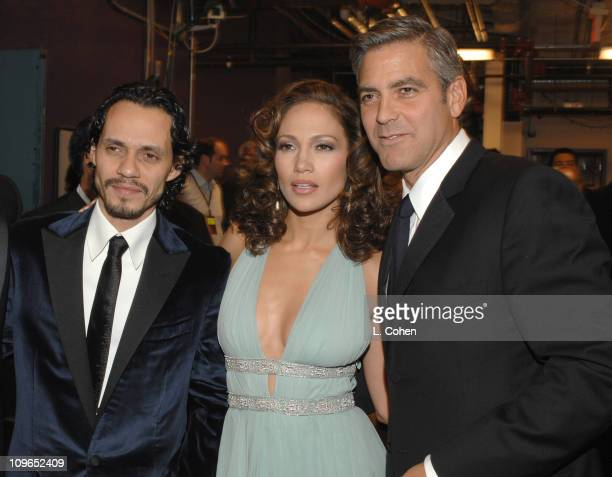 Marc Anthony, Jennifer Lopez and George Clooney *EXCLUSIVE*