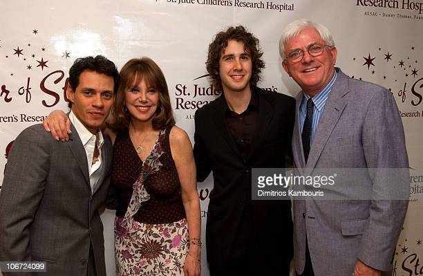 Marc Anthony Marlo Thomas Josh Groban and Phil Donahue