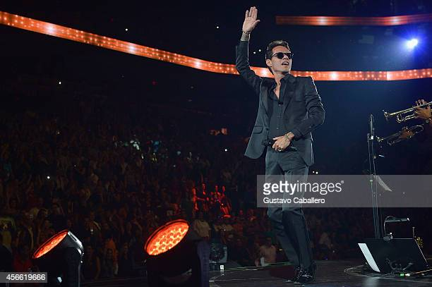 Marc Anthony perform at American Airlines Arena on October 3 2014 in Miami Florida