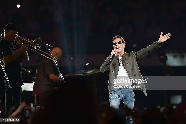 Marc Anthony performs at American Airlines Arena American Airlines Arena on October 2, 2015 in Miami, Florida.