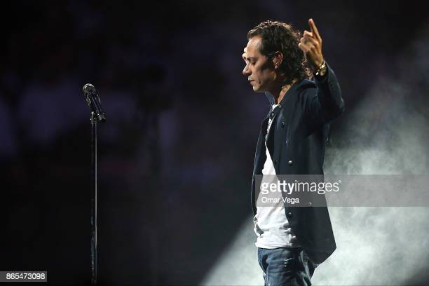 Marc Anthony performs during a show at American Airlines Center on October 22 2017 in Dallas US