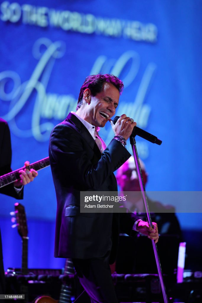 Marc Anthony performs during the 2013 Starkey Hearing Foundation's 'So the World May Hear' Awards Gala on July 28, 2013 in St. Paul, Minnesota.