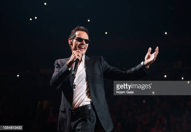 Marc Anthony performs in concert at Madison Square Garden on October 28 2018 in New York City