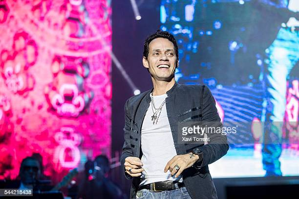Marc Anthony performs in concert at the RCD Español stadium on July 1 2016 in Barcelona Spain