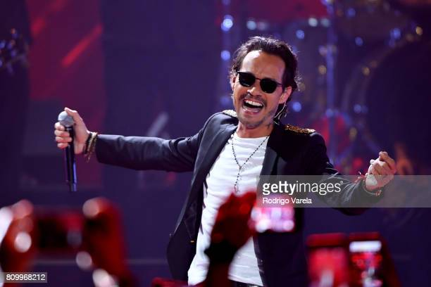 Marc Anthony performs on stage during Univision's Premios Juventud 2017 Celebrates The Hottest Musical Artists And Young Latinos ChangeMakers at...