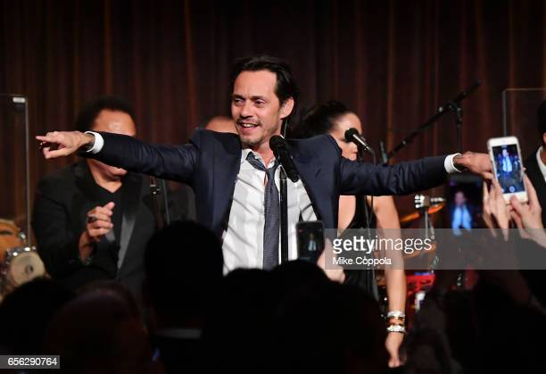 Marc Anthony performs onstage at the Maestro Cares Foundation's fourth annual 'Changing Lives/Building Dreams' gala at Cipriani Wall Street on March...