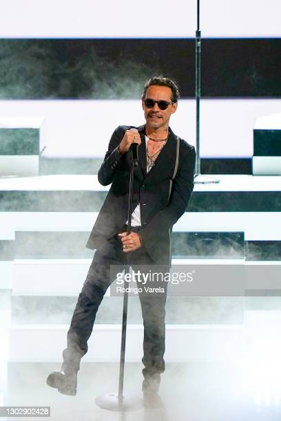 Marc Anthony performs onstage during Univision's 33rd Edition of Premio Lo Nuestro a la Música Latina at AmericanAirlines Arena on February 18, 2021...