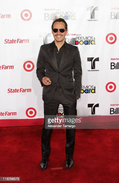 Marc Anthony shines on the red carpet at the Latin Billboard Music Awards at BankUnited Center at University of Miami on April 28, 2011 in Miami,...