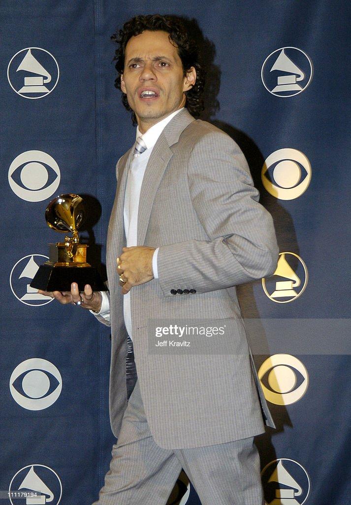Marc Anthony, winner of Best Latin Pop Album for 'Amar Sin Mentiras'